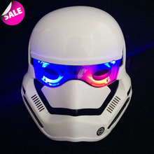 Star Wars White soldier masks Darth vader Light LED Stormtrooper Helmet Cosplay Halloween Party Masks Men Game Masquerade Masks