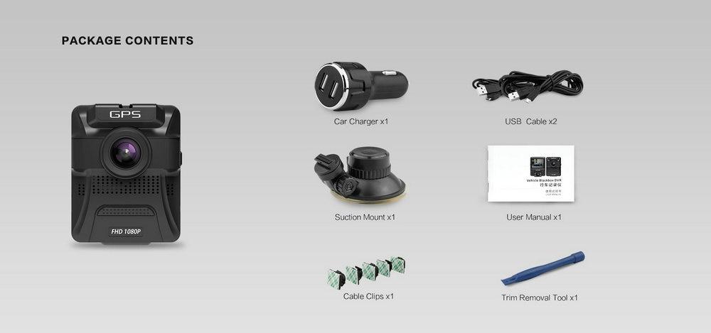 Azdome GS65H Mini Dual Lens Car DVR Camera 1080P Full HD Dash Cam Novatek 96655 Video Recorder G-sensor Night Vision 13