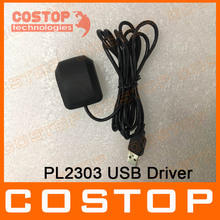 PL2303 USB GPS Receiver Antenna Module GP267 for Car PC windows mac os linux and andriod same driver with GlobalSat BU-353S4