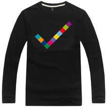 Pet Shop Boys tick design rock band t shirt long sleeve spring attumn fashion t-shirt Electronic Music tee shirt
