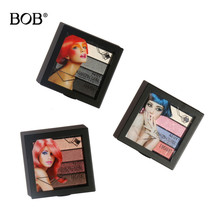 BOB Cosmetics Makeup Eye Shadow Palette 4 Colors for Matte Glitter Eyeshadow Make Up Set Waterproof Easy to Wear(China)
