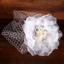 2016 Hot Trendy Hair Jewelry Bijoux Lace Flower Wedding Hair Ornament For Bridal Wholesale Hair Clip For Women Fashion Tiara