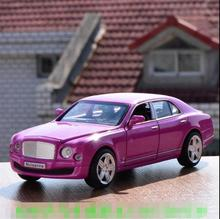 Candice guo alloy car model Diecasts Toy Vehicles Bentley mulsanne pull back sound light baby birthday christmas model gift 1pc