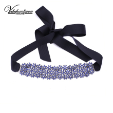 Vodeshanliwen 2017 New Fashion Rhinestone flower Choker Necklace Women Wedding Collar Statement Necklace Sexy Accessories