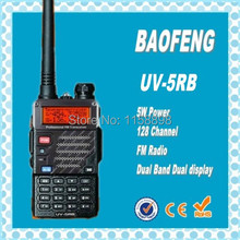DHL freeshipping+Baofeng UV-5RB handy talkie radio 5Watt high power dual band vhf uhf frequency midland walkie talkie uv 5rb(China)