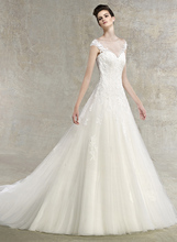 shoulder tube before South Korea winter fashion heavy-tailed slim retro + lace shoulder strap size Fishtail wedding dress