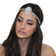 GREAT GATSBY INSPIRED CRYSTAL PENDANT TIARA HEADPIECE HEADBAND(China)