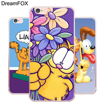 L179 Garfield Soft TPU Silicone  Case Cover For Apple iPhone X 8 7 6 6S Plus 5 5S SE 5C 4 4S