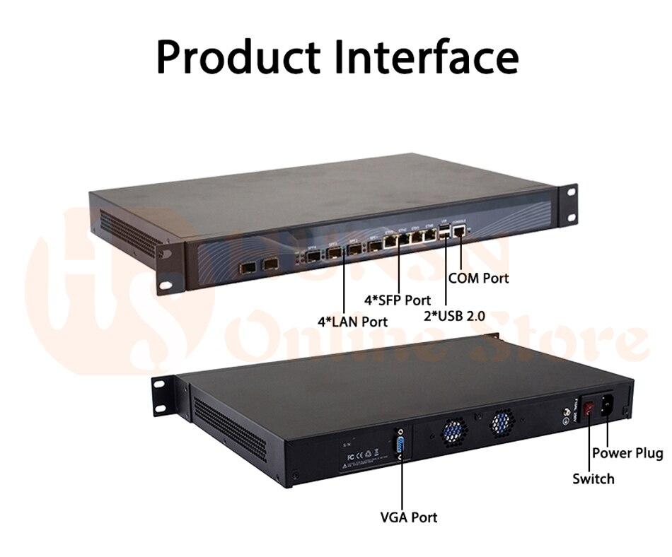 Firewall Mikrotik Pfsense Router PC I3 4160 I5 4430 I7 4770 G3250 HUNSN RS19 (09)