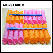 DIY Hair Curler 18pcs/lot Magic Hair Rollers 45cm Long easy to use Soft Hair Styling Tools With Stick No Harm