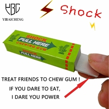 Safety Trick Joke Toy April Fool Funny Shock Shocking Chewing Gum Pull Head Jokes Toys Gags Practical Jokes Children Scary Toys(China)