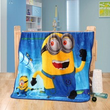 Cartoon Minions Blanket Hello kitty Doraemon Bed Blankets Plush Fleece Blanket Throw on Bed/car/sofa Home Textile Free Shipping