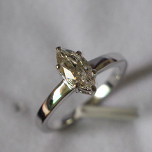 Solid 14K Gold Ring Brilliant 1Ct Marquise Cut Diamond Ring 14K White Gold 585 Engagement Jewelry for Her Genuine 14K