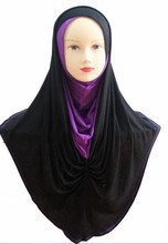 A49  20pcs amira   latest  jersey cotton muslim hoody hijab scarf shawl