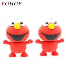 FGHGF 100% real capacity memory stick 2GB 4GB 8GB 16GB 32GB Mini Elmo USB Flash Drive from SESAME USB pen drive U disk(China)