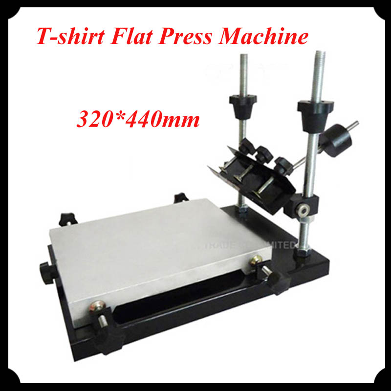 1pc Single Color Screen Printer for T-shirt Flat Press Machine with 320*440mm Printing Area <br><br>Aliexpress