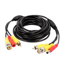 BNC RCA DC Cable 5m/10m/15/20/30m Diameter 3.8mm Power Video Plug and Play Cable Wire for CCTV Security Camera DVR System(China)