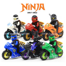 Ninja Kai Jay Zane Cole Lloyd Carmadon With Tornado Motorcycle Ninjagoes figures Building Block Toys Compatible With Legoes