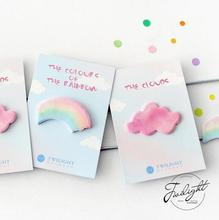 The Color Of The Rainbow Cloud Memo Pad Sticky Notes Memo Notebook Stationery Papelaria Escolar School Supplies