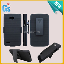 For LG L80 D373 Clip Belt Holster Combo Hybrid Stand Hard Case Free Ship(China)