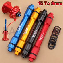 Mountain Bike Bicycle Front Hubs Tube Shaft 15mm TO 9mm Conversion Axis Seat MTB Tube Shaft Diameter Conversion kit Send 2 Apron(China)