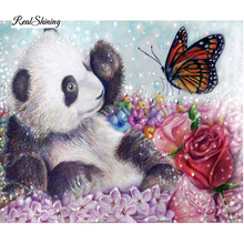 New DIY 5D Diamond Mosaic Panda Butterfly Handmade Diamond Painting Cross Stitch Kits Diamond Embroidery Pattern Rhinestone R77