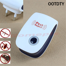 OOTDTY Enhanced Version Electronic Ultrasonic Anti Mosquito Insect Repeller Rat Mouse Cockroach Pest Reject Repellent EU Plug