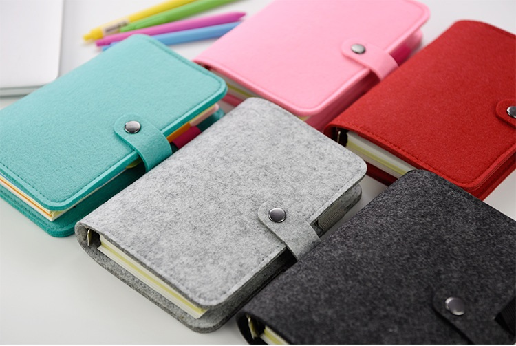 A5 A6 vintage loose leaf refillable wool felt spiral notebook dairy planner filofax memo travel journal diary notepad<br><br>Aliexpress