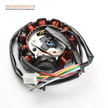 Buy MAGNETO STATOR 11 COIL POLE GY6 125cc 150cc 152QMI 157QMJ SCOOTER ATV GO KART COOSTER for $22.99 in AliExpress store