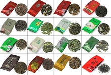30 Different Flavor Chinese Tea,including Black/Green/Jasmine/Flower Tea,Puerh,Oolong,Tieguanyin,Dahongpao,M01,Free Shipping