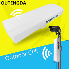 OUTENGDA 300Mbps 3.5Km Outdoor CPE AP 5.8Ghz WiFi Bridge Router 1000mW Wireless Wi-fi Repeater 15dBi Antenna 24V Poe Adapter(China)