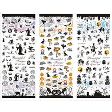 3 PACKS / LOT HALLOWEEN GHOST SKULL PUMPKIN BAT NAIL TATTOOS STICKER WATER DECAL NAIL ART HOT304-306(China)