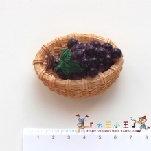 Fridge magnet Home Decorations grape basket magnet Resin refrigerator simulation 3D stereo Fruit magnetic stickers Grape basket