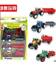 The new boxed alloy car model taxi farmer car tractor simulation car