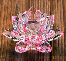 free shipping 90mm The upscale crystal Lotus car decoration crystal gifts crafts Christmas gifts living gift