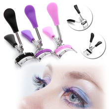 1PC Professional Eyelash Curler With Comb Makeup Lashes Curling Tool Cosmetic Tweezers Curling Eyelash Clip Eye Beauty Tools(China)