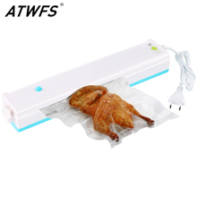 ATWFS Vacuum Packing Machine Best Home Vacuum Sealer Packer Food Saver Plastic Vacuum Packaging Machine Including 15pcs Bags(China)