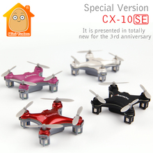 Minitudou Mini Drone Cheerson CX-10 Upgrade Version CX-10SE Mini Drone 4CH RC Helicopter Remote Control Toys Quadcopter