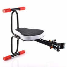 Children Bicycle Seat Quick Release Seat Bike Saddle for Kids ciclismo Safety Seat with Armrest & Pedal Bike Accessories bmx mtb(China)