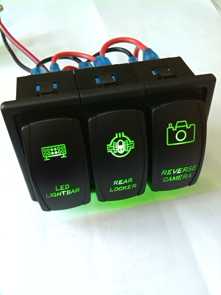 Taiwan 1 Pc 5-pin waterproof travel light switch 12 V / 24 V / 10A 20a, league blue bar rocker switch SPST<br><br>Aliexpress
