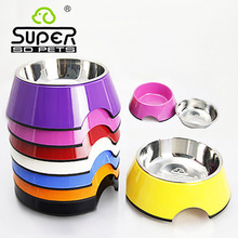 2016 New Arrival Sale Comedero Perro Hamster Pet's Dog Bowl Stainless Steel Skid Basin To For Cat Food Pet Supplies Round(China)