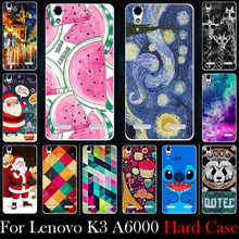 Hard Plastic Case For Lenovo K3 A6000 A6010 A6010 Plus 5.0 inch Mobile Phone Cellphone Mask Case Cover Housing Skin Mask(China)