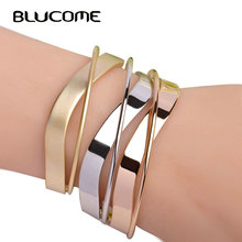Blucome Fashion Small Size Rose Gold Color Bangles Bracelets For Woman Girls 2017 New Design Copper Jewelry Hand Accessories