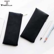 New Simple Solid Color Pencil Case For School And Office Cortex Supplies Stationery Pen Case Pencil Bag