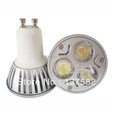 DHL EMS Free shipping good price High Power Dimmable GU10 3x3W 9W LED Spotlight Lamp CREE LED 85~265V Light Bulb Downlight(China)