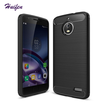 For Motorola moto e4 plus case Slim Hybrid Super armor Carbon Fiber Coque Texture Brushed Silicone Cover e4 phone case (L92)