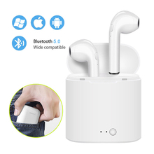 i7s TWS Mini Wireless Bluetooth Earphone Stereo Earbud Headset With Charging Box Mic For Iphone Xiaomi All Smart Phone(China)