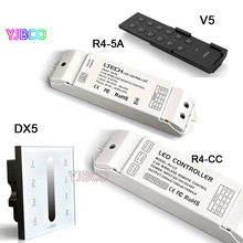 2.4G RF DMX Touch Led Dimmer Controller Glass Panel Multi 4Zone control DMX512 Dimming Dimmer DX5 AC100-240v(China)