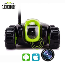 Automatically Recharge WIFI APP Remote Control Car Tank with 720P HD FPV camera VR 3D Night Vision 8G SD Card 2 Way Audio RC Toy(China)