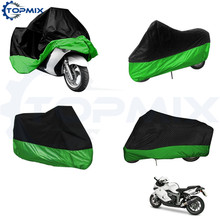 XL/XXL/XXXL Black+Green Motorcycle Motor Bike Moped Scooter Cover Waterproof Rain Dust UV Outdoor Cover Protection